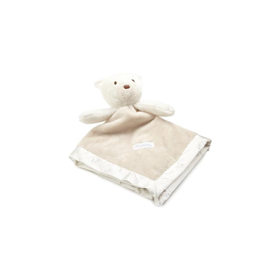 Vitamins Baby boys Newborn Bear Satin Trim Superplush Blankie Buddy, Ivory & Tan, One Size  Nursery Receiving Blankets  Baby
