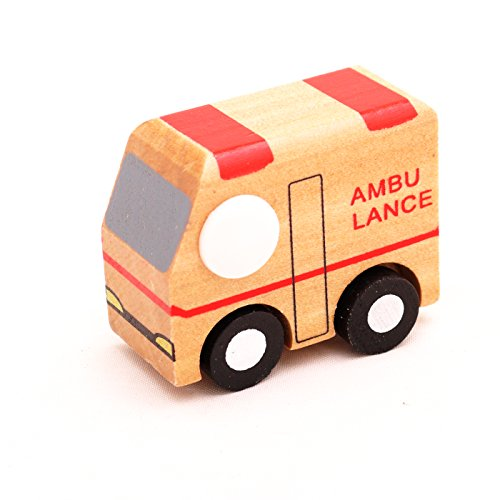 Mini Wooden Car Ambulance,T00077 - 1
