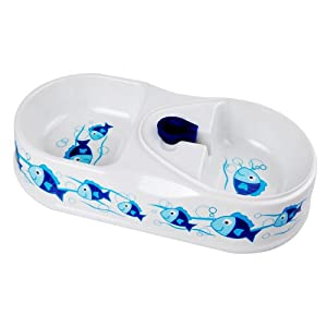 Factop 2-in-1 Melamine Food Bowl Automatic Waterer with Water Bottle Connector