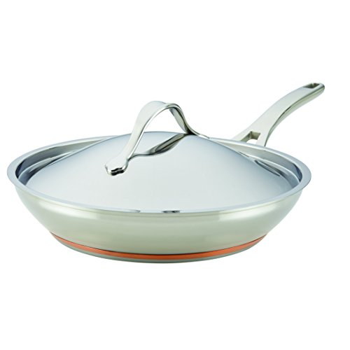 Anolon 77711 Nouvelle Copper Covered French Skillet, 12