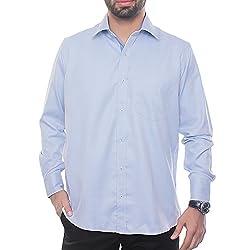 VinaraTrends Light Blue Color Cotton Shirt For Men