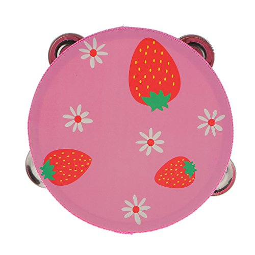 wood-tambourines-drum-bell-toy-kids-musical-percussion-instrument-strawberry