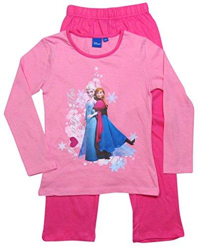 Frozen Pyjama Die Eiskönigin 2016 Kollektion 98 104 110 116 122 128 Schlafanzug Völlig Unverfroren Lang Anna und Elsa Top Neu Rosa-Darkrosa (104 - 110)