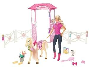 Mattel - N4892 - Poupée - Accessoire - Ecurie de Barbie et son Poulain