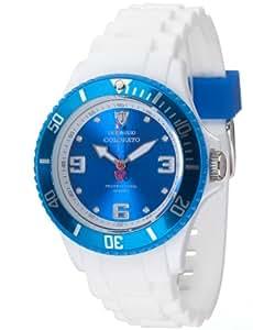 Detomaso - DT3007-Q - Colorato - Montre Femme - Quartz Analogique - Cadran Bleu - Bracelet Silicone Blanc