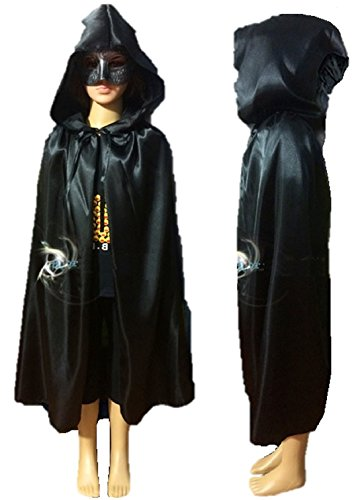 [ShonanCos Kids Hooded Cloak Witch Party Dress Vampire Cape Costume (1'11