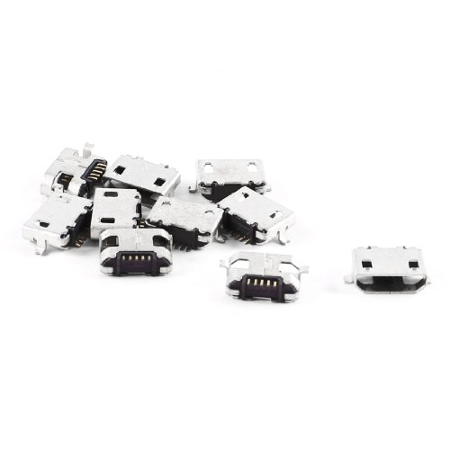 10 Pcs Spare Parts Type B Micro Usb Female Jack Connector Port Socket