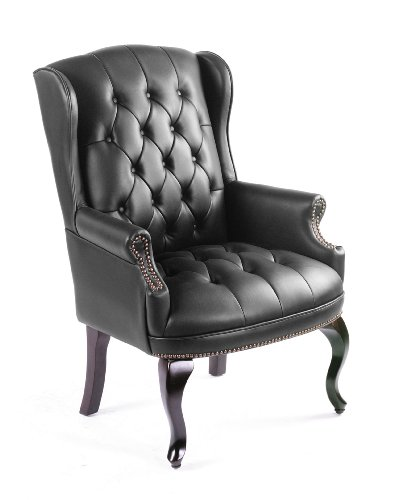 Boss Wingback Traditional Guest Chair, Black
