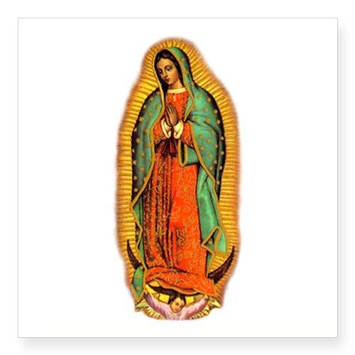 CafePress - Virgen de Guadalupe Oval Sticker - Square Bumper Sticker Car Decal, 3