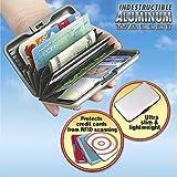 Aluminum Credit Card ID Holder / Wallet, Light Weight - BLACK