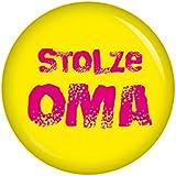Kiwikatze® Familie - stolze Oma - 37mm Button Pin Ansteckbutton als Geschenk oder Mitbringsel für die lieben Verwandten