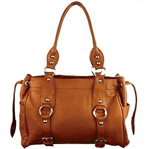 16 Sac Bouteille Genuine Leather Shoulder Bag