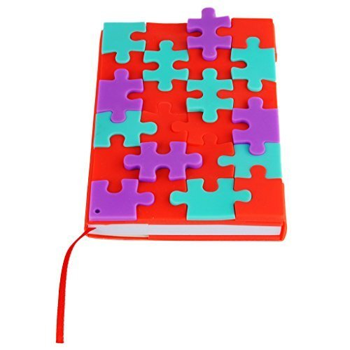Creative DIY Puzzles Notebook Diary Work Record Book Cute Silicone Colored Snowflakes Notepad (Np2) - 1