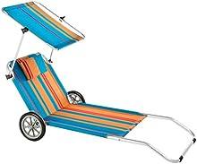 Comprar Ultranatura Nizza - Tumbona de playa con parasol y ruedas