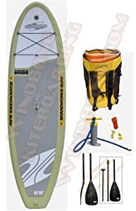 Boardworks SHUBU 10-10 XL Wide Inflatable Stand Up Paddle Board Plus FREE 3 Piece Carbon SUP Paddle from Boardworks