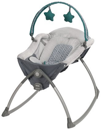 Graco Little Lounger Rocking Seat Plus Vibrating Lounger, Ardmore front-946303