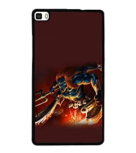 printtech Hindu Demon Angry Back Case Cover for Huawei P8