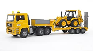 Bruder Toys Man TGA Low Loader Truck With JCB Backhoe Loader at Sears.com