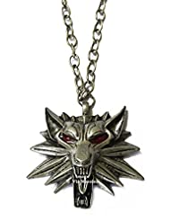 Famous Twilight Saga Jacob Black Wolf Necklace By Via Mazzini (With Red Eyes)