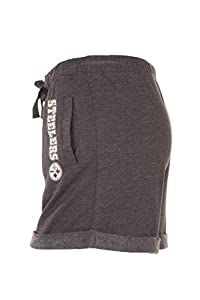 Pittsburgh Steelers NFL Womens Shorts - Charcoal Gray, Multiple Sizes