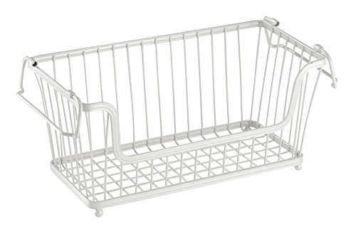 interdesign-york-lyra-open-basket-12-inch-pearl-white