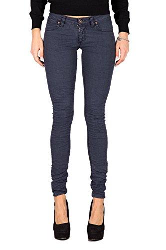 PLEASE - P21 jeans da donna pantaloni slim fit xxs blu