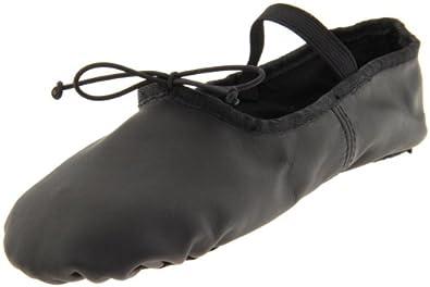 Dance Class Women's B602 Split Sole Leather Ballet Slipper,Black,5 M US