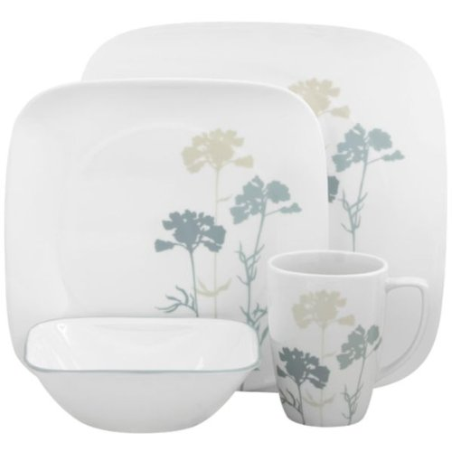 corelle corelle square paper shadows 16 piece dinnerware set