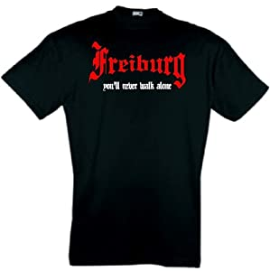 world-of-shirt Herren T-Shirt Freiburg You`ll never walk alone