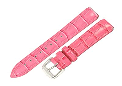 Pink Croco Leather 12mm Watch Band Fits Philip Stein Mini with Built in Quick Release Pins!! by Clockwork Synergy, LLC