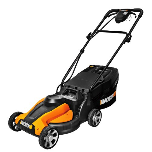 WORX WG775 Lil'Mo 14-Inch 24-Volt Cordless Lawn Mower with Removable Battery and Grass Collection Bag image