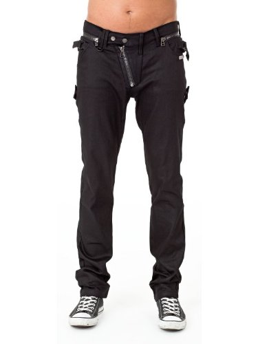 Queen of Darkness, Trousers with diagonal Zipper, size XL