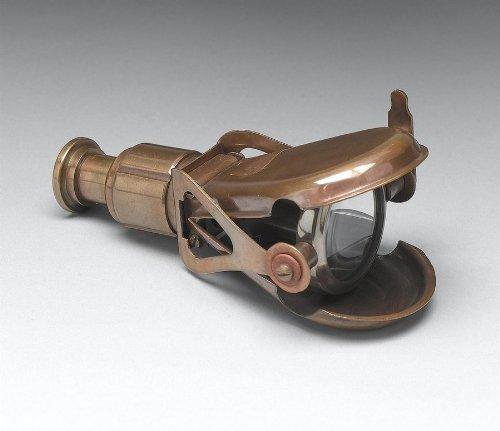 Single Binocular Desk Decoration Antique Brass Finish By Aa Importing