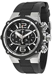 Officina Del Tempo Power Lumicron Chrono Gel 49 mm Watch - Black Dial, Black Gel Strap OT1030/11N