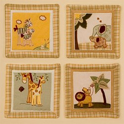 Swazi - Wall hanging: Set of 4