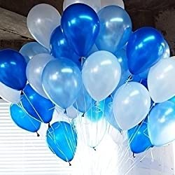 GrandShop 50329 Balloons Metallic HD Blue, White & Light Blue (Pack of 50)