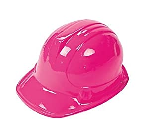 Pink Construction Hat (Receive 12 Per Order) by Jeirles Wholesale