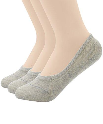 Zando -  Calzini  - Donna 3 Pairs-Grey Misura Scarpa: 38-41 EU (Dimensione Calzino 21,59 cm-24,13 cm)