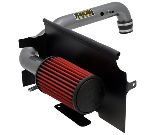 AEM 21-8311DC Brute Force Intake System with Gun Metal Tube and Red Dry Filter for Jeep Wrangler TJ 1997 - 2006 4.0 L6 (97 Wrangler Intake compare prices)