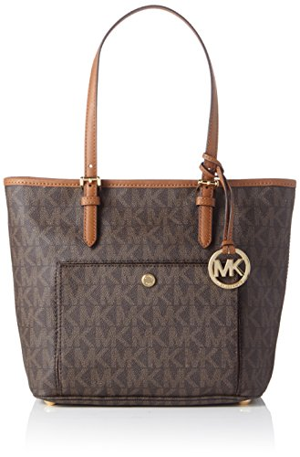 Image of Michael Kors Medium Jet Set Top Zip Tote - Brown