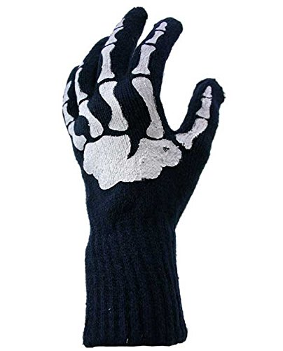 LL- Skeleton Hand Bones Adult Gloves or Halloween Costume Accessory