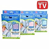 Turbie Twist Microfiber Super Absorbent Hair Towel, 1 Ea As Seen On Tv