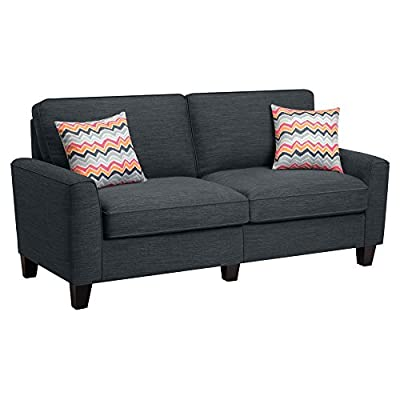 "Serta® RTA Astoria Collection 61"" Loveseat in Winter River Gray, CR46230P"