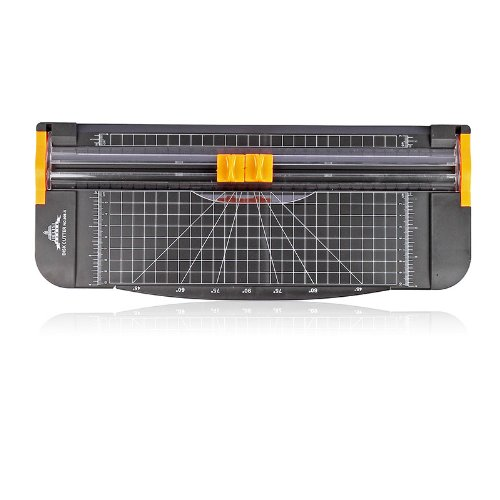 JLS AZ-102 15*5.5 Inch A4 Paper Cutter Trimmer with Multi-function *Automatic Security Safeguard When Cutting* (Black-Orange)