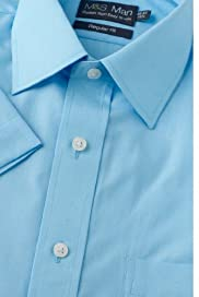 Cotton Rich Easy to Iron Classic Collar Shirt [T11-4011-S]