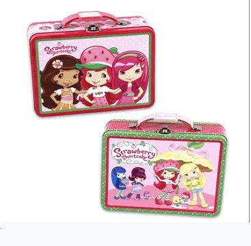 Assorted Strawberry Shortcake Tin Lunch Box - Large Strawberry Shortcake Tin Box женская рубашка strawberry witch lolita