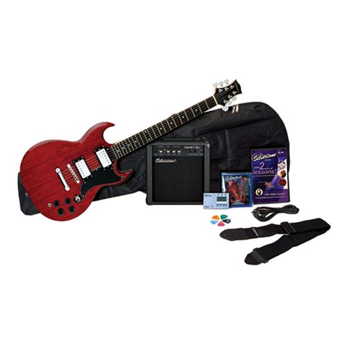 Silvertone Rockit 21 Guitar Package, Wine Red
