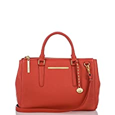 Small Lincoln Satchel<br>Coral Nepal