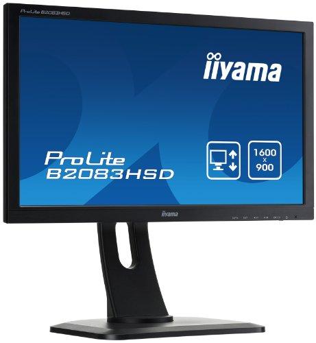 Iiyama Prolite B2083HSD-B1 Ecran PC LED 20″ (50 cm) 1920 x 1080 2 ms VGA/DVI Noir