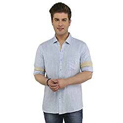 Attila Men's Casual Shirt (3306212706_Baby Blue_38)